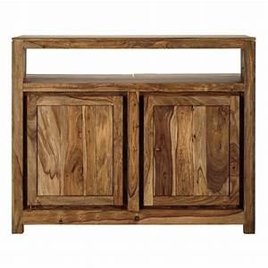 Meuble Bar Maison Du Monde : meuble de bar en bois de sheesham massif l 130 cm ~ Nature-et-papiers.com Idées de Décoration