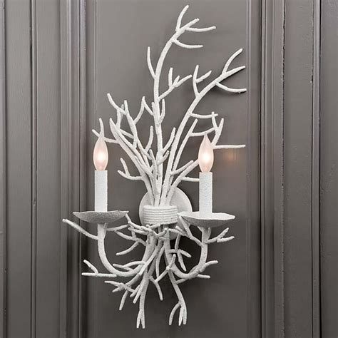 coral wall sconce andrew left and right coral sconces pair