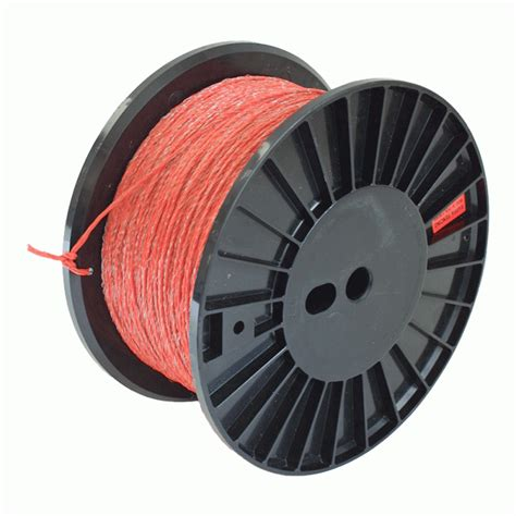 rappa reel with 600m orange electric fence polywire