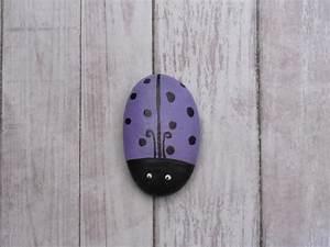 Whimsical, Ladybug, Painted, Rock