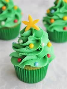 mini christmas tree cupcakes by lydia bakes