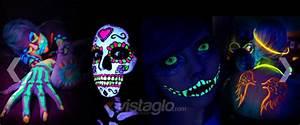Maquillage Fluo Visage : pas de d guisement pour halloween osez un makeup glow in ~ Farleysfitness.com Idées de Décoration