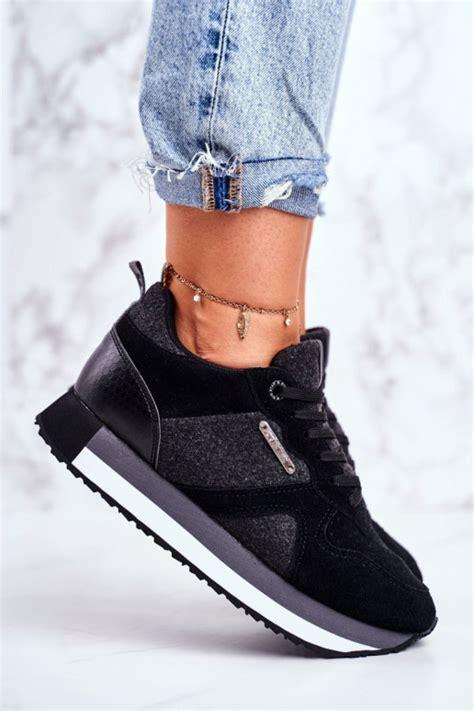 Stilīgi sporta apavi Big Star melnas krāsas GG274464
