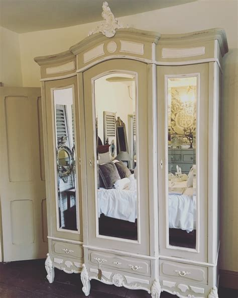 large antique french louis xv  door armoire wardrobe