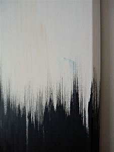 Simple But Striking, Black + White DIY Abstract Painting ...