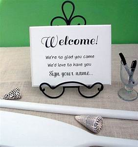 welcome sign your name wedding guest book sign in table With wedding sign in book ideas