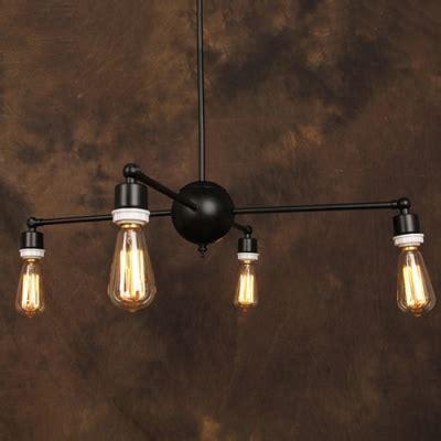 exposed light bulb chandelier industrial retro exposed edison bulb style chandelier