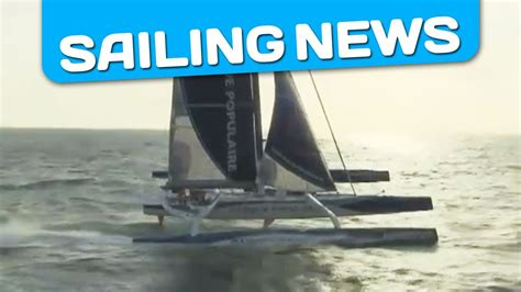 Trimaran Knots Speed by Speed Of 41 Knots For Banque Populaire V Dur