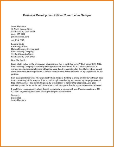 exles of business letters how to format cover letter