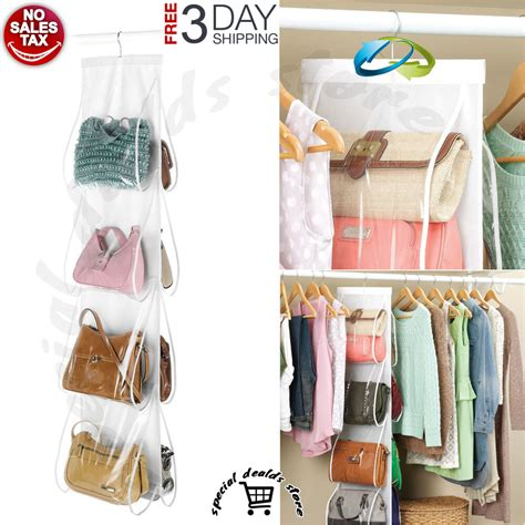 Closet Hangers by Handbag File Purse Organizer Hanger Closet Display 8