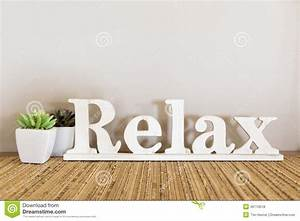 relax With relax letters