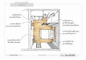 Plan Petite Salle D Eau : chambre parentale salle de bain une petite suite parentale dans un garage st futuristic ~ Dallasstarsshop.com Idées de Décoration
