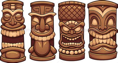 Tiki Totem Templates by Hawaiian Tiki Wave Vector Pack Torrent 187 Dondrup