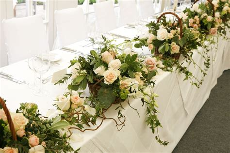 wedding flowers   style  top table  blog