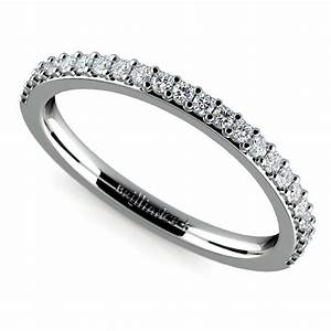 curved diamond wedding ring in white gold With curved diamond wedding ring