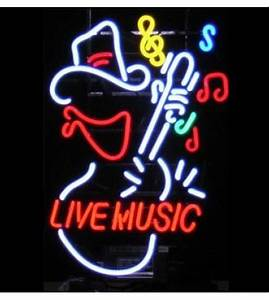 Live Music Cowboy Neon Sign FREE SHIPPING
