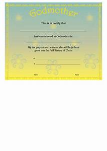 Free Training Completion Certificate Templates Godmother Certificate Template Yellow Printable Pdf Download