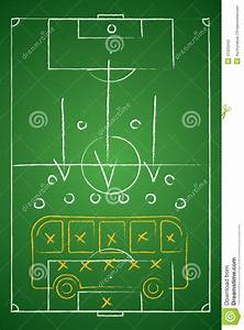 Soccer Tactic Table  Defensive  Bus Tactic  Stock Photos