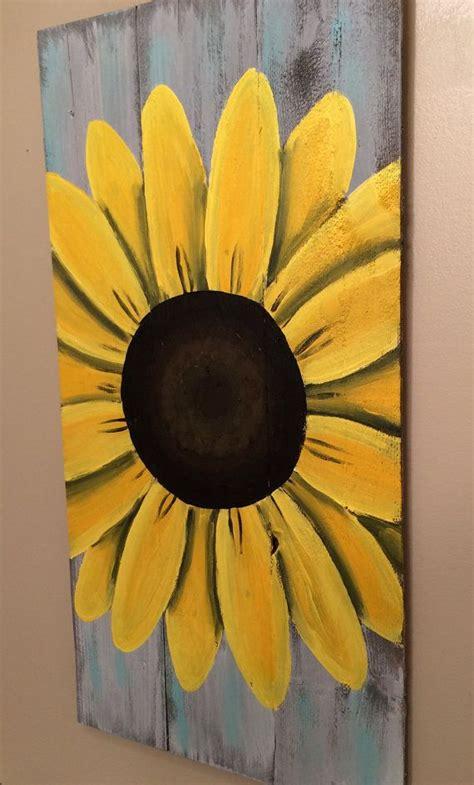 reclaimed wood art sunflower sign custom reclaimed wood