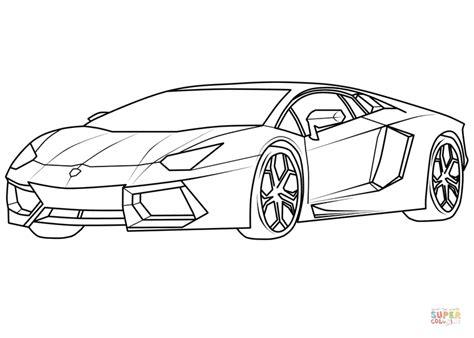 Lamborghini Aventador Supercar Coloring Page
