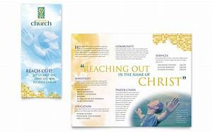 christian church brochure template design With church brochures templates