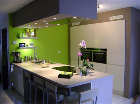 cuisine vert pomme cuisine noir et vert pomme