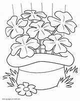 Coloring Spring Patrick St Pages Printable Shamrock Holiday Sheets Seasons Hat Saint Crayola Crafts March Activities Mother sketch template
