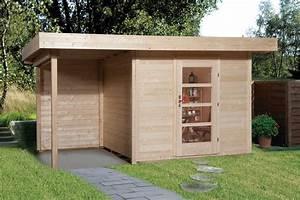 Haus Bausatz Holz : gartenhaus flachdach lounge gr e 1 weka typ 172 mit ~ Whattoseeinmadrid.com Haus und Dekorationen