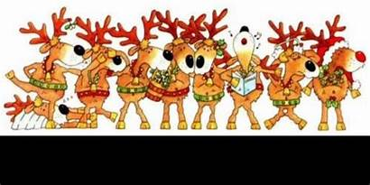 Christmas Clipart Animated Clip Funny Reindeer Party