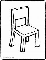 Chair Drawing Colouring Kiddicolour Drawings sketch template