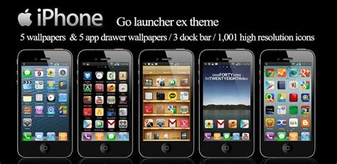 Android Iphone Go Launcher Theme