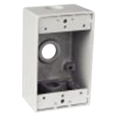 junction box 1 gang rectangular junction box with 3 1 2 in holes white case of 16 s100whe r the home depot