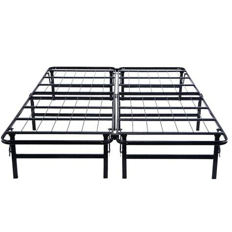 Platform Metal Bed Frame by Metal Bed Frame Platform Mattress Foundation Size Ebay