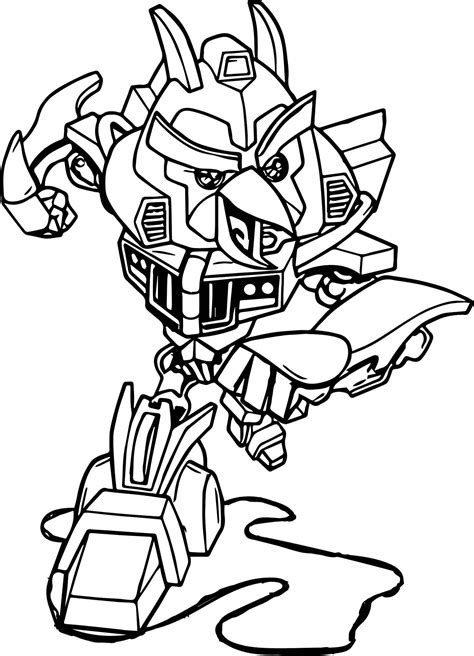 Kleurplaat Angry Birds by Angry Bird Transformers Bumblebee Coloring Sheet