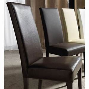 lot chaises cuir marron dans chaise de salle a manger With meuble salle À manger avec chaises cuir marron salle manger