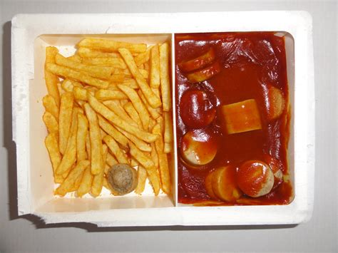 tv cuisine file ready to eat microwave food tv dinner currywurst