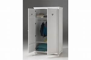 Armoire Blanche 2 Portes : armoire 2 portes laqu e blanche sarah cbc meubles ~ Teatrodelosmanantiales.com Idées de Décoration