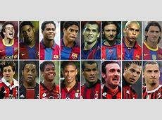 Milan Ac vs Fc Barcelone huit joueurs ont joué dans les