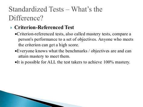 criterion referenced assessment norm reference test