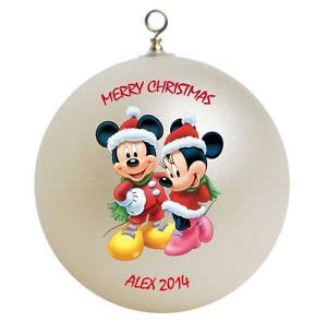 personalized mickey mouse minnie mouse christmas ornament