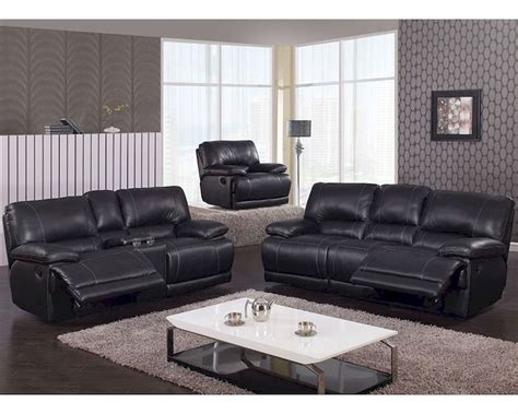 Reclining Sofa Sets by Reclining Black Sofa Set Mcfsf3609 Set