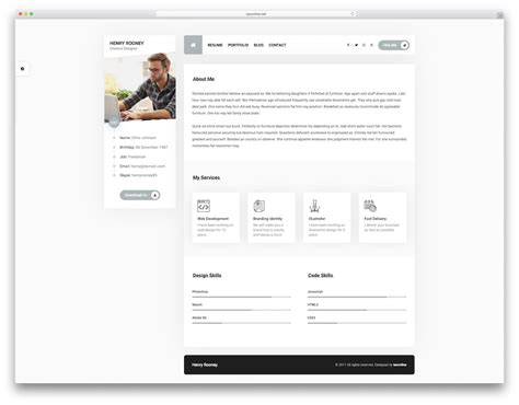 Resume Website Template by 27 Top Resume Website Templates For Cvs 2019 Colorlib