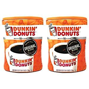 A subreddit for discussion on all things dunkin donuts. Amazon.com : Dunkin Donuts Original Blend Ground Coffee - 90 oz Total - 45 oz Per Canister ...