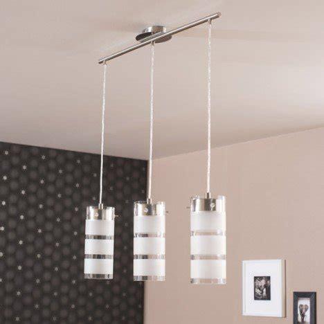 suspension moderne olvero métal blanc 3 x 7 w eglo leroy