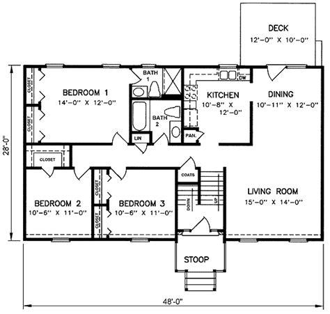Split Foyer Floor Plans by 1970s Split Level House Plans Split Level House Plan