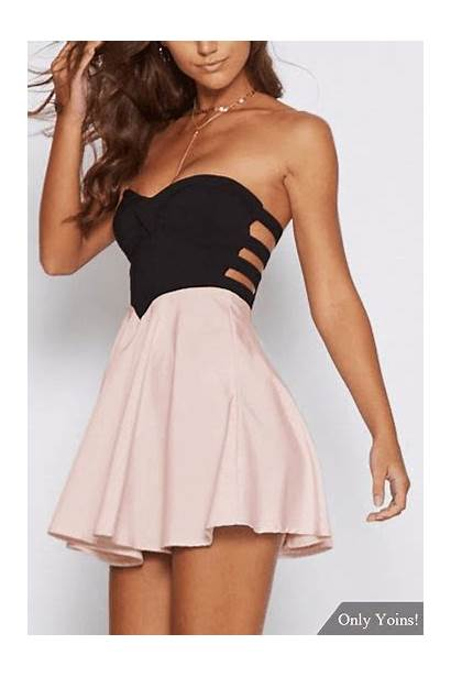 Strapless Skirts Cut Skirt Dresses Backless Sweaters