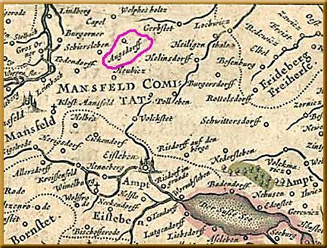 Mansfelder Land Karte