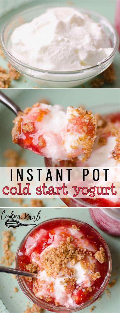 instant pot yogurt    easier   cold
