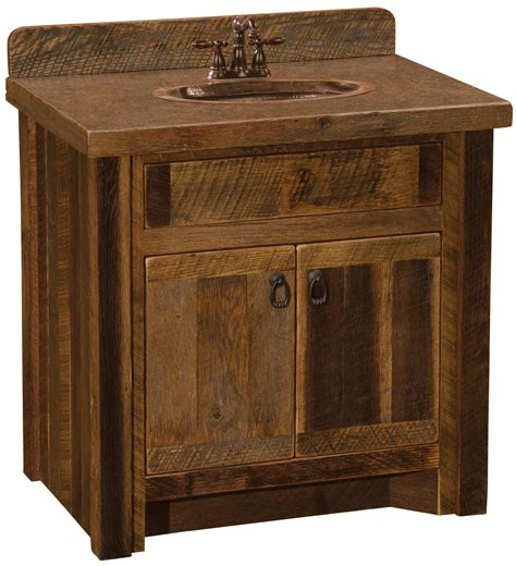 barnwood  vanity sink center barnwood  hickory