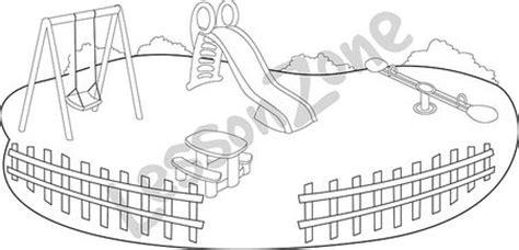 school playground clipart black and white lesson zone nz playground b w